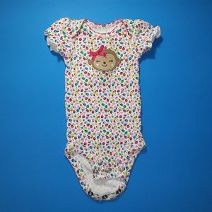Carter's One Pieces - *SOLD* Cute Monkey Preemie Bodysuit